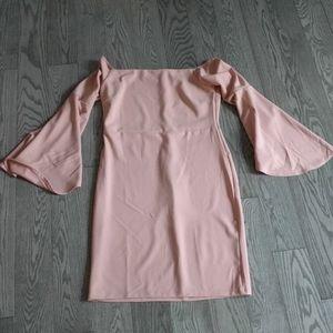 🌸🌸Powder pink color off shoulder dress by Guilty